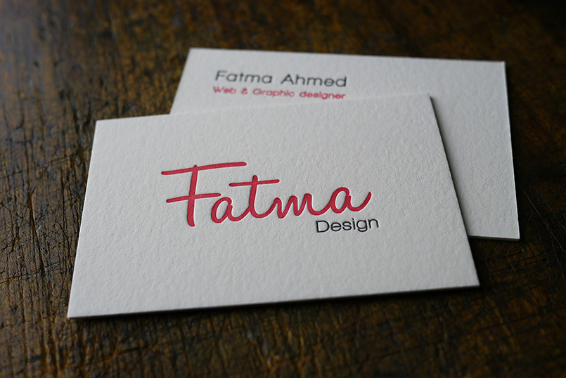 Business Cards for Fatma Design