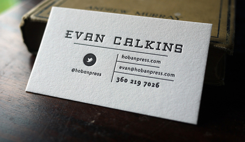 Evan Calkins Letterpress Card