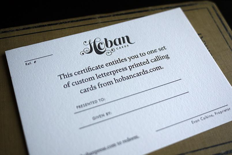 hoban press hoban cards gift certificate