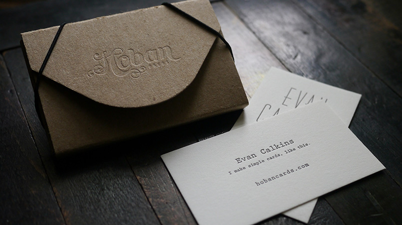 Letterpress Calling Card Case