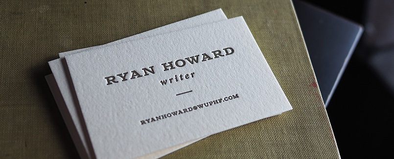 Hoban press custom letterpress printing the writer reheart Choice Image