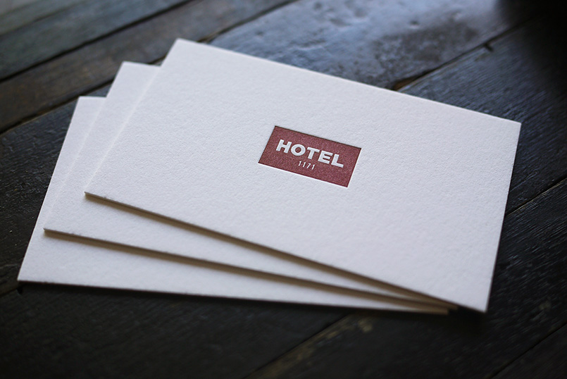 Hotel 1171 letterpress Printed Cards