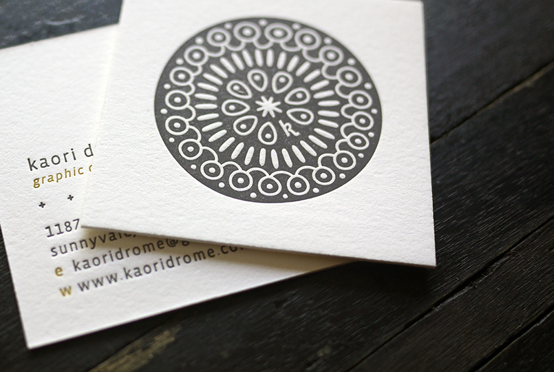 Square Letterpress Cards