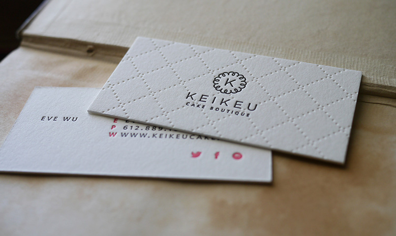 keikeu cake boutique - Letterpress Business Cards