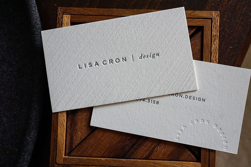 lisa cron design - Letterpress Business Cards