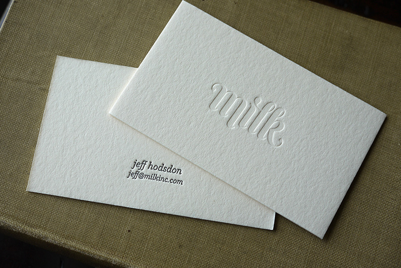 Letterpress Cards for Milk