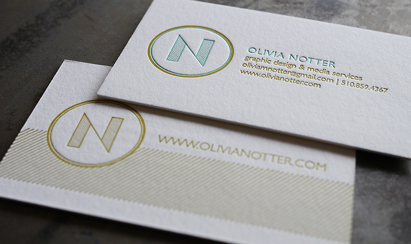 hoban press custom letterpress printing - Letterpress Business Cards