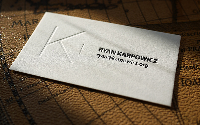 Ryan Karpowicz Letterpress Card