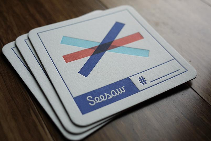 Seesaw Letterpress Coasters
