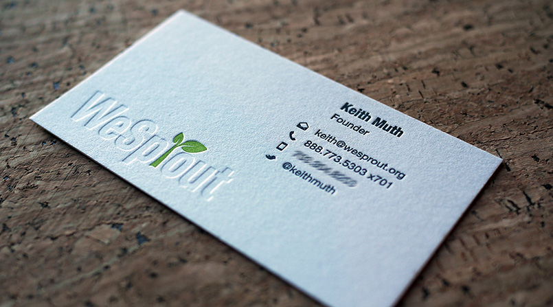 WeSprout Letterpress Cards